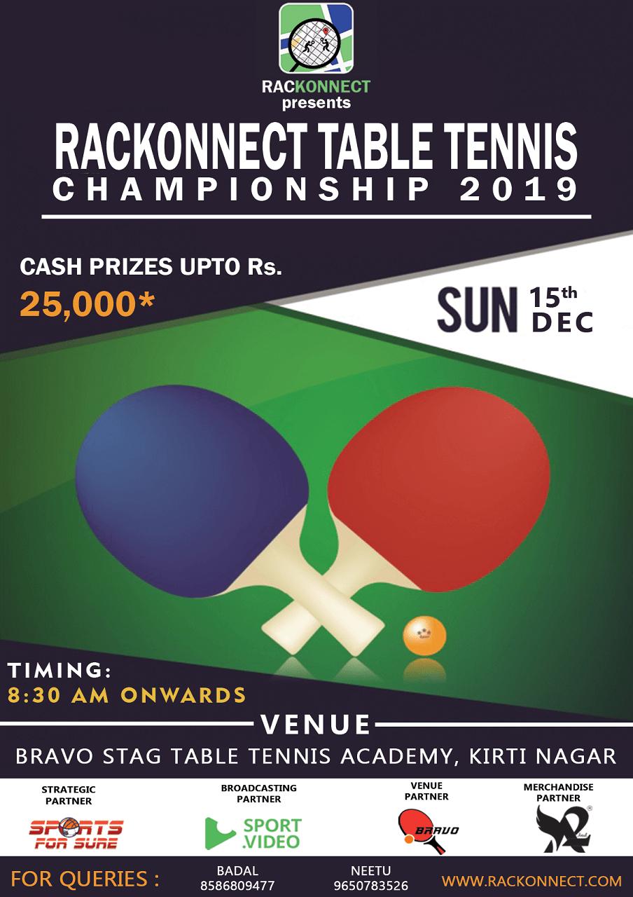 Rackonnect Table Tennis Championship