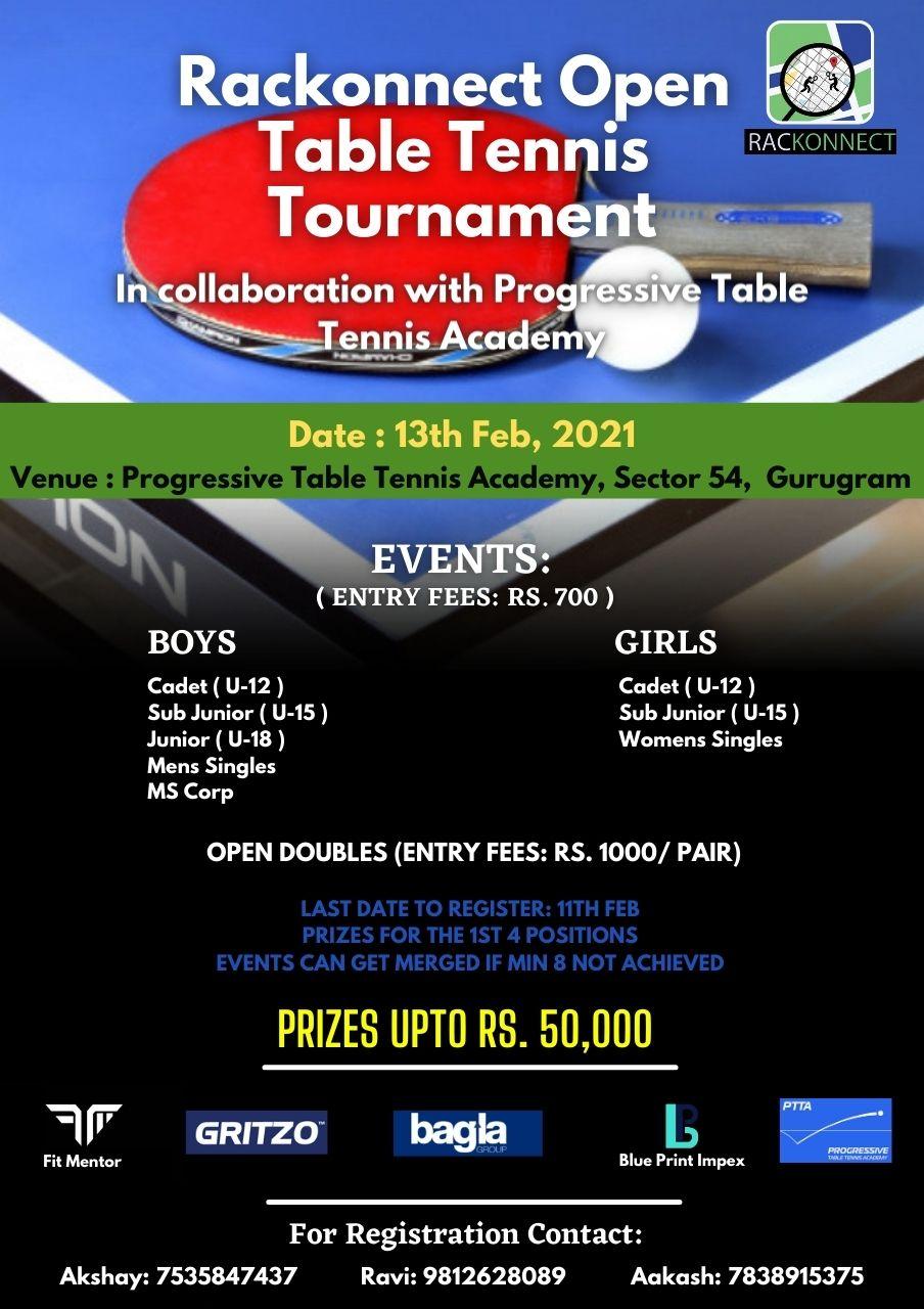 Rackonnect presents Table Tennis Championship
